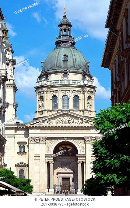 Basilica of Saint Stephen in the Hungarian capital Budapest - Hungary
