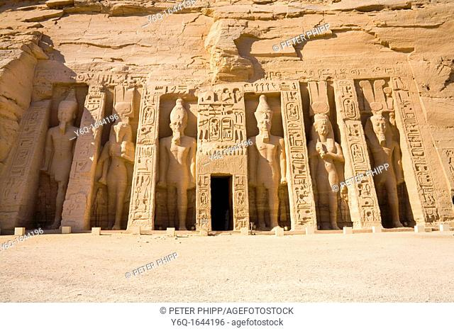 The Archaeological site of the Temple of Hathor at Abu Simbel