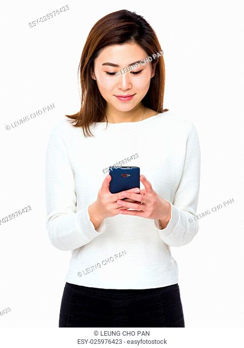 Young asian woman use of the mobile phone