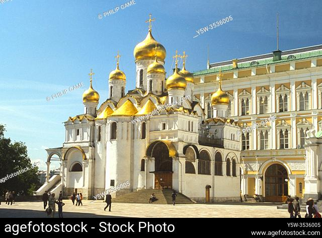 Sobornaya Ploschad or Cathedral Square inside the Kremlin, Moscow