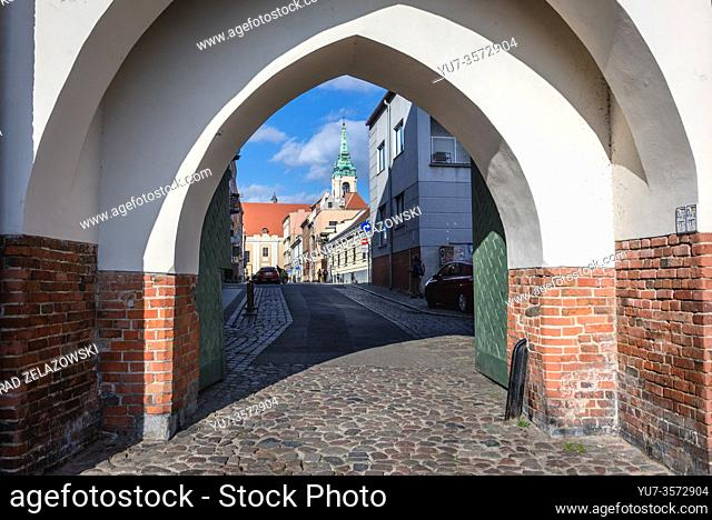 Monastery Gate also called Gate of the Holy Spirit or the Gate of the Lady on Old Town of Torun, Kuyavian Pomeranian Voivodeship of Poland