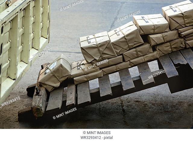 Stacked Mail Packages