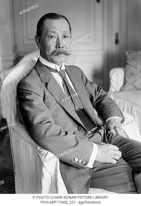 Marquis Inouye. Photograph shows Katsunosuke Inoue (1861-1929), a Japanese diplomat and businessman. Photograph probably taken at the time when Inoue was...