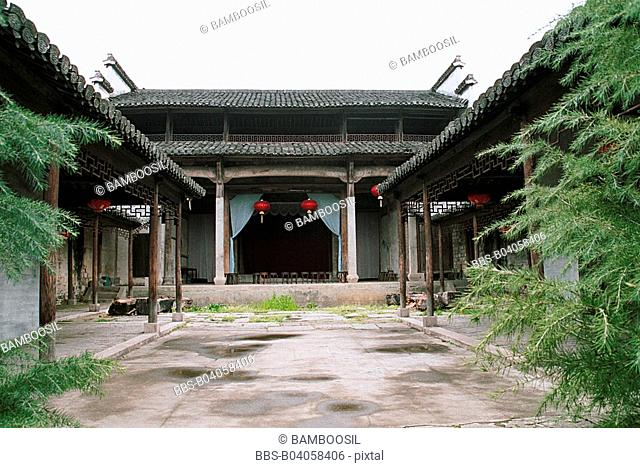 Ancient Stage in Tangmo Village, Shexian County, Anhui Province, People's Republic of China