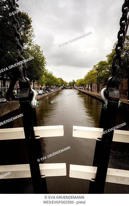 Netherlands, Amsterdam, Magere Brug, traditional wood bridge