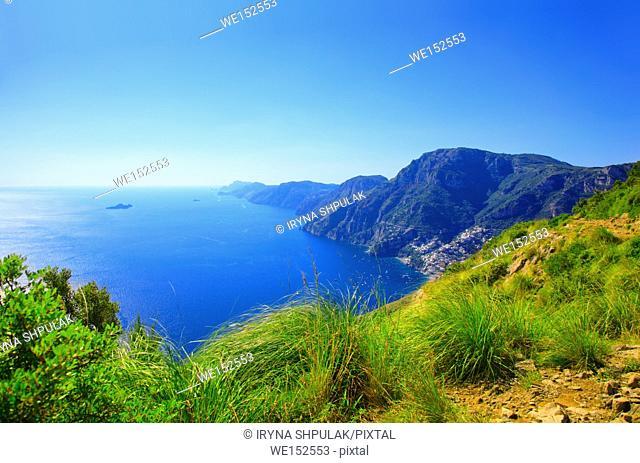 Amalfi Coast, Positano, Peninsula of Sorrento, Campania, Gulf of Salerno, Italy
