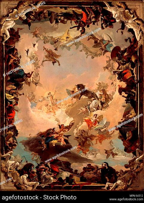 Allegory of the Planets and Continents. Artist: Giovanni Battista Tiepolo (Italian, Venice 1696-1770 Madrid); Date: 1752; Medium: Oil on canvas; Dimensions: 73...