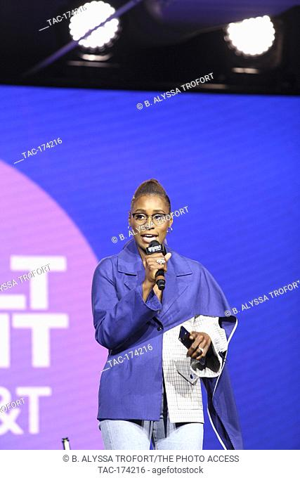 A Sip with Melina Matsoukas on stage at the Revolt Summit x AT&T LA on October 25, 2019 at Magic Box in Los Angeles, California