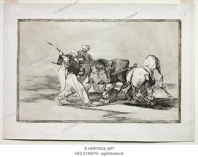 The Moors Settled in Spain, Giving Up the Superstitions of the Koran, Adopted this Art.., 1815-1816 Creator: Francisco de Goya (Spanish, 1746-1828)