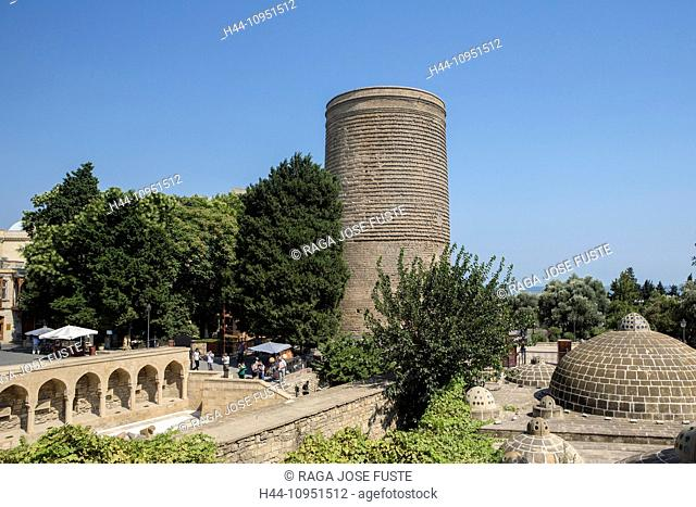 world heritage, Azerbaijan, Caucasus, Eurasia, Baku, City, Bazaar, Maiden, Old Baku, Tower, architecture, city, history, historical, touristic, travel, unesco
