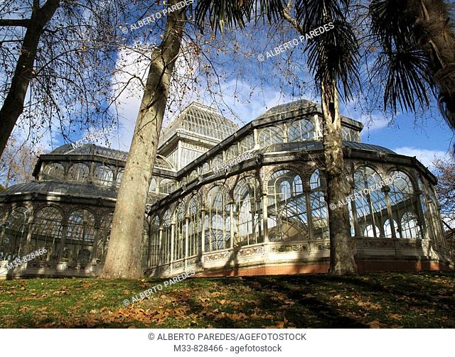 Crystal Palace in Parque del Retiro, Madrid, Spain