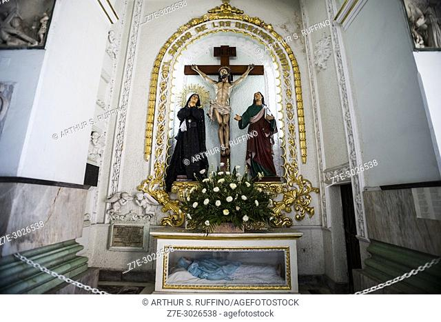 Interior of Church of Our Lady of Guadalupe (Iglesia de Nuestra Senõra de Guadalupe), Puerto Vallarta, Jalisco State, Mexico