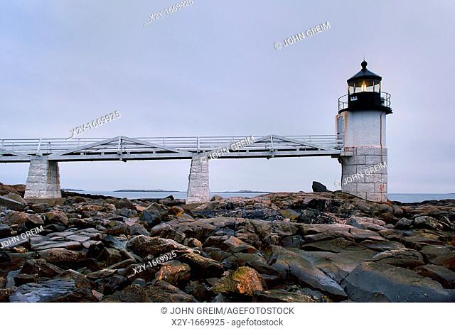 Marshall Point Light Station, Port Clyde, Maine, USA  Est  1832