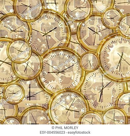 time passing clocks and gears