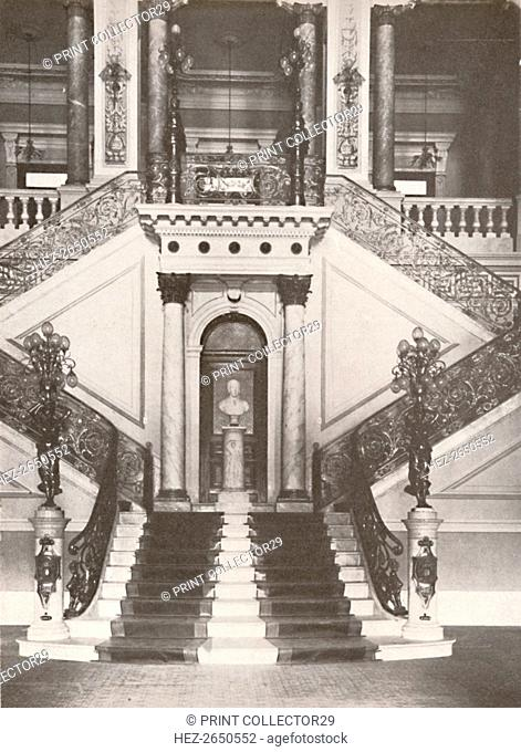'The National Library staircase', 1914. Artist: Unknown