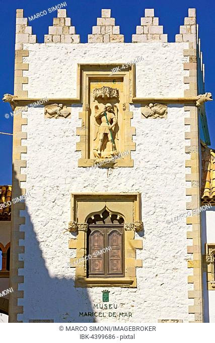 Maricel Palace and museum, Museu de Maricel, Sitges, Catalonia, Spain