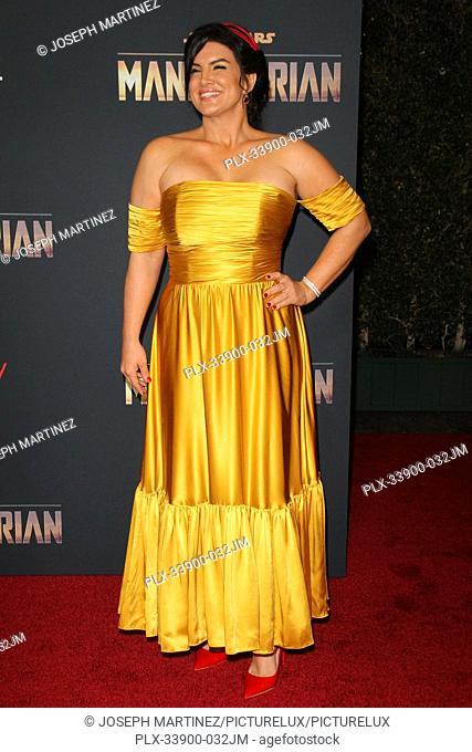 "Gina Carano at """"The Mandalorian"""" Premiere held at El Capitan Theatre in Hollywood, CA, November 13, 2019. Photo Credit: Joseph Martinez / PictureLux"
