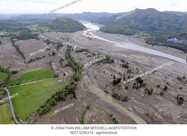 PHILIPPINES Panay Island -- 27 Jun 2008 -- Aerial image shows the aftermath the wake of Typhoon Fengshen after it passed Pannay Island in The Philippines --...