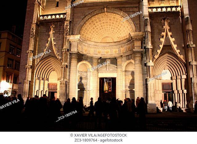 Church, la fête des lumières, Lyon, Rhône, Rhône-Alpes, France