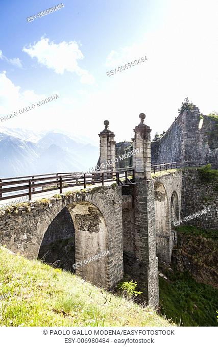 Fenestrelle Fort - North Italy. The 300 years old abandoned fortress, the biggest alpine fortification in Europe