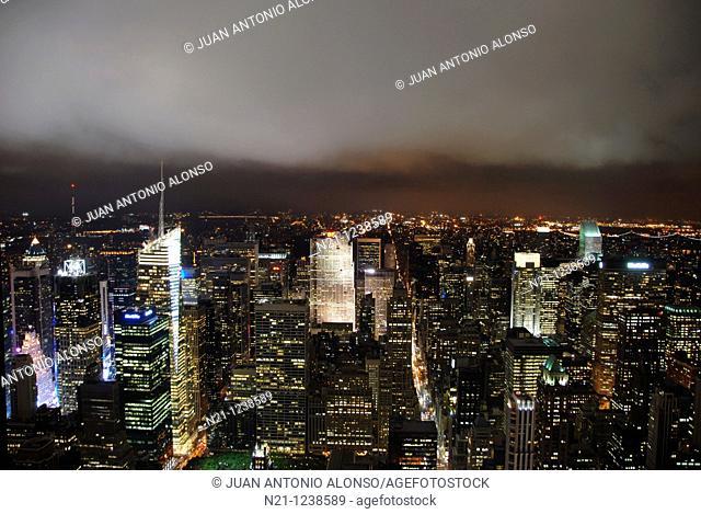 General view of  Southwest Manhattan . New York, New York. USA