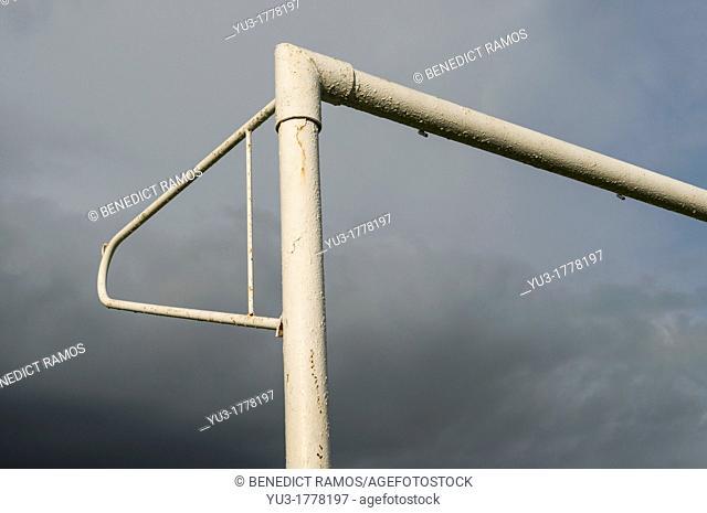 Detail of football goalpost