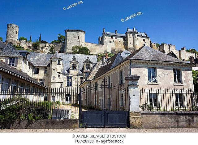 Architecture and castle of Chinon, Indre-et-Loire, Loire valley, Central region, France
