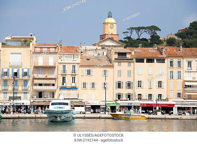 port, saint tropez, provence, cote d'azur, france, europe