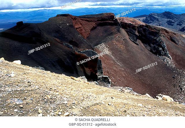 Volcanic formations, Tongariro National Park, North Island, New Zealand