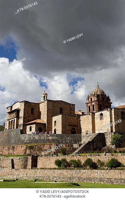 View over the Qorikancha and Santo Domingo church, Cuzco, Peru