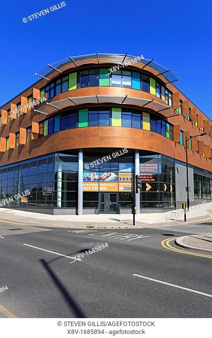 New apartments, Burgage Square, Merchant Gate, Wakefield, West Yorkshire, England, UK