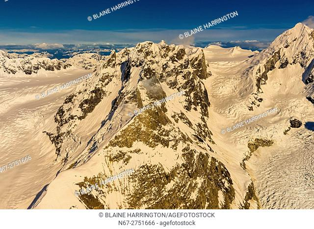 Aerial view over Glacier Bay National Park, southeast Alaska USA