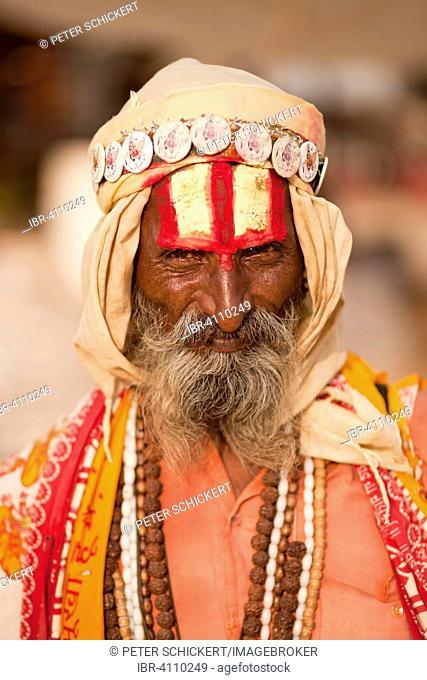 Portrait of a Sadhu, Pushkar, Rajasthan, India