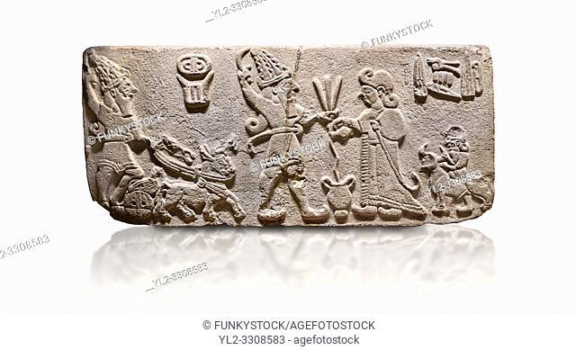 Aslantepe Hittite Orthostat. Limestone, Aslantepe, Malatya, 1200-700 BC. Anatolian Civilizations Museum, Ankara, Turkey.