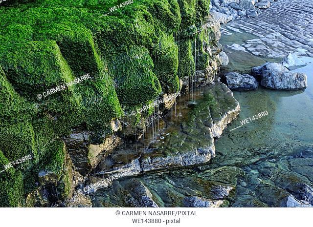 Cliffs in Peñarrubia beach, Gijon