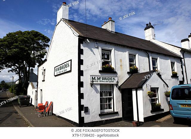 Mary McBrides bar in Cushendun county antrim northern ireland uk McBrides is the smallest bar in Ireland