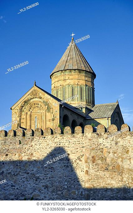 Pictures & images of the exterior and wall around the Eastern Orthodox Georgian Svetitskhoveli Cathedral (Cathedral of the Living Pillar) , Mtskheta