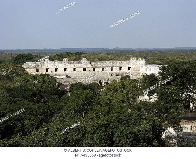 Uxmal, Pre-Columbian ruined city of the Maya civilization (late Classic period 600 - 900 A.D.). Yucatan, Mexico