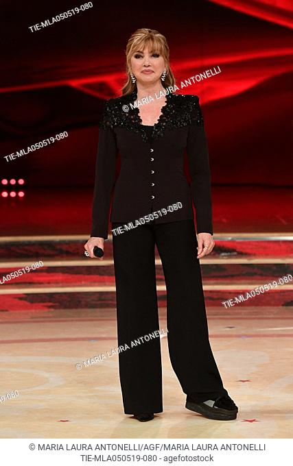 Milly Carlucci at the tv show Ballando con le stelle (Dancing with the stars) Rome, ITALY-04-05-2019