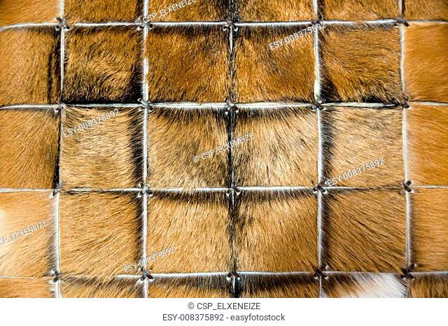 Carpet of animal fur