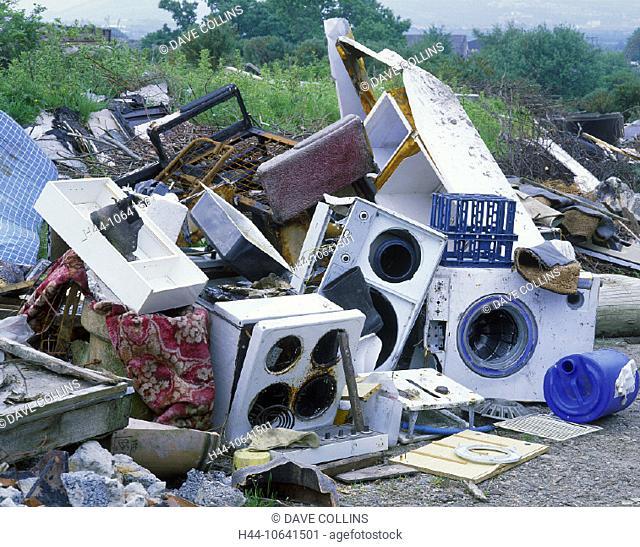 10641501, rubbish, waste, outside, dump, iron, plastic, plastic, synthetics, garbage, rubbish, Scotland, scrap metal, rubbish
