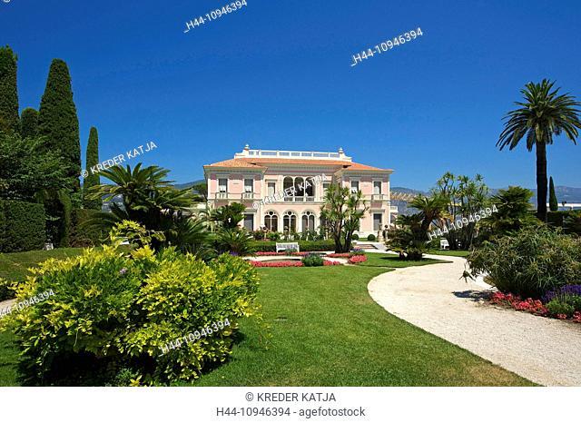 France, Europe, South of France, Cote d'Azur, Ephrussi de Rothschild, Saint Jean, Cap Ferrat, villa, house, home, building, architecture, place of interest