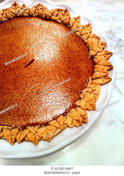 Plate of pumpkin pie