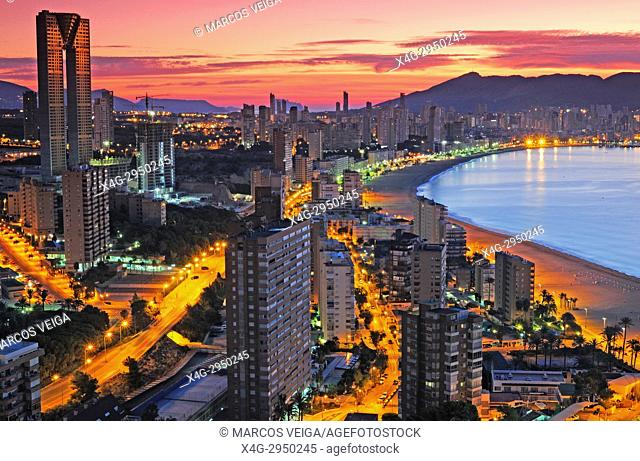 Benidorm at dawn