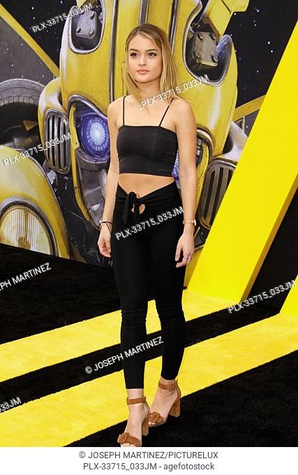 """Valentina Genta at the Premiere of Paramount Pictures' """"""""Bumblebee"""""""" held at the TCL Chinese Theatre in Hollywood, CA, December 9, 2018"""
