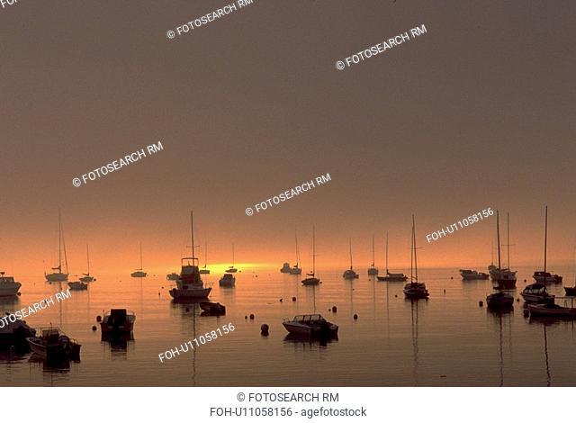 quiet, boats, maine, coast, marina, water