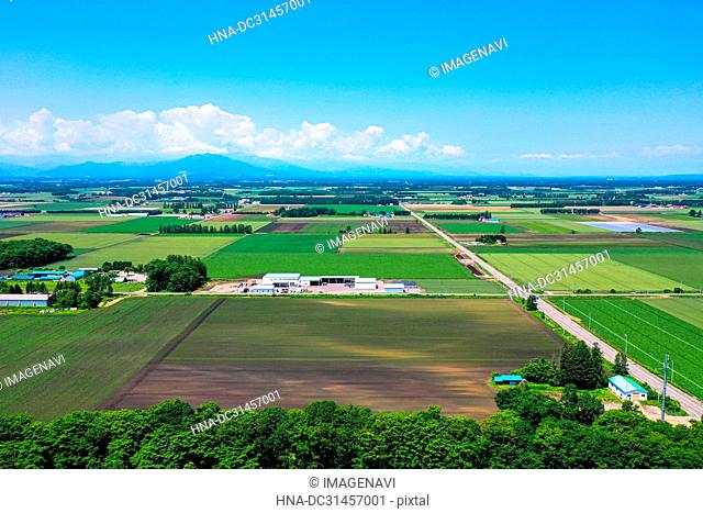 Aerial Photography of Tokachi, Hokkaido, Japan