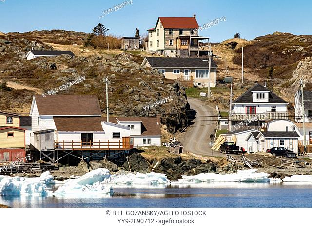 Views of the town of Twillingate from Twillingate Harbour - Newfoundland, Canada