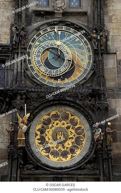 Prague Astronomical Clock, Prague, Czech Republic, Central Europe