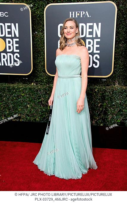 Golden Globe nominee Yvonne Strahovski attends the 76th Annual Golden Globe Awards at the Beverly Hilton in Beverly Hills, CA on Sunday, January 6, 2019